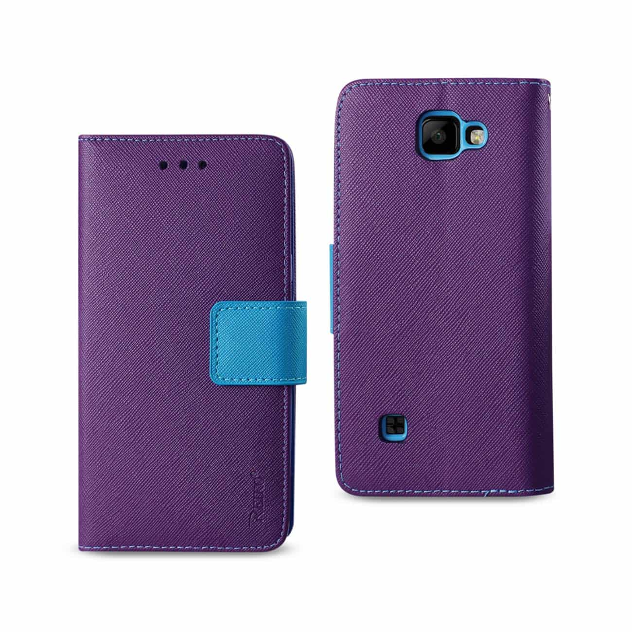LG K3 3-IN-1 WALLET CASE IN PURPLE