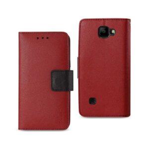 LG K3 3-IN-1 WALLET CASE IN RED