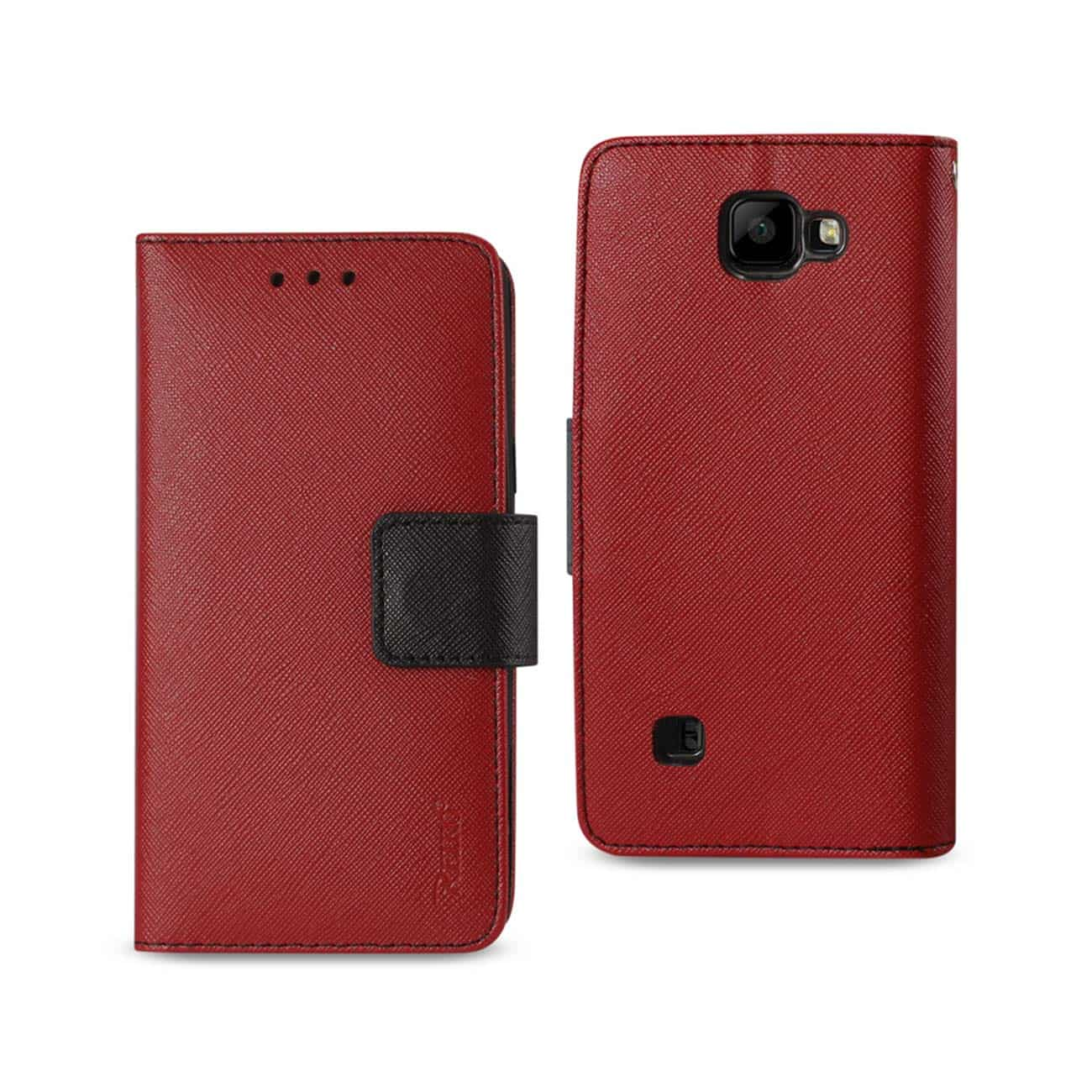 LG K3 3-IN-1 WALLET CASE IN RED
