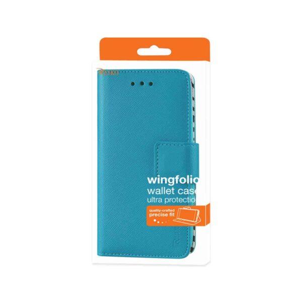 LG K3 WALLET CASE WITH INNER ZEBRA PRINT IN BLUE