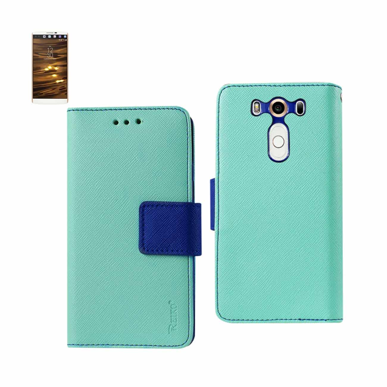 LG V10 3-IN-1 WALLET CASE IN GREEN