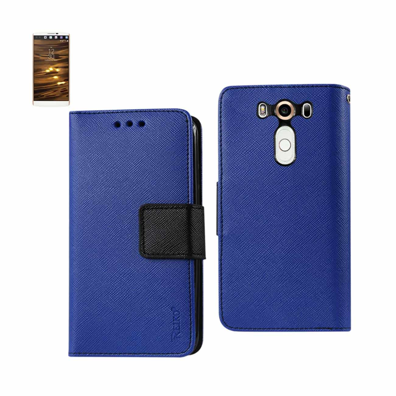 LG V10 3-IN-1 WALLET CASE IN NAVY