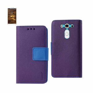 LG V10 3-IN-1 WALLET CASE IN PURPLE
