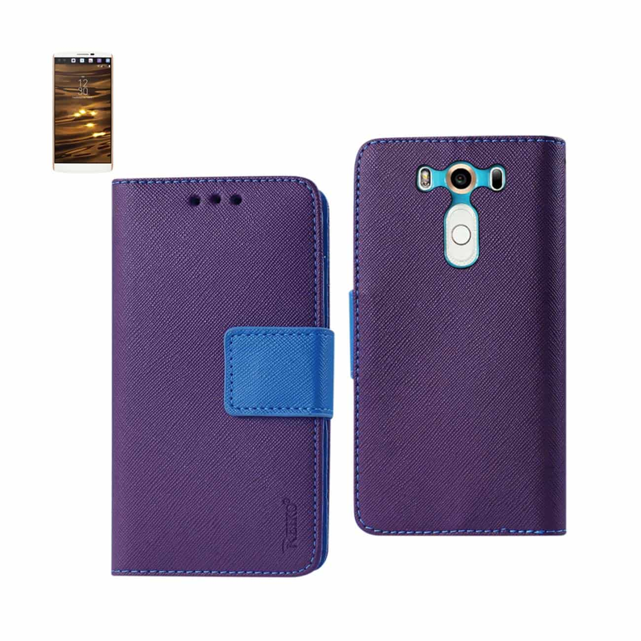 LG V10 3-IN-1 WALLET CASE IN PURPLE