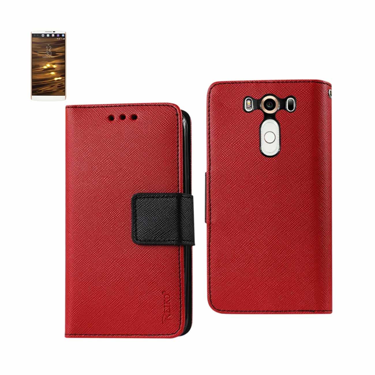 LG V10 3-IN-1 WALLET CASE IN RED