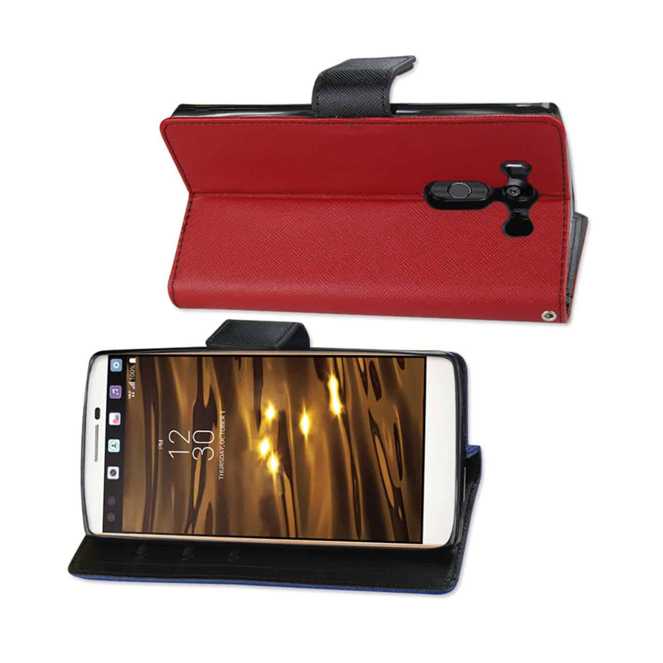 LG V10 3-IN-1 WALLET CASE IN RED