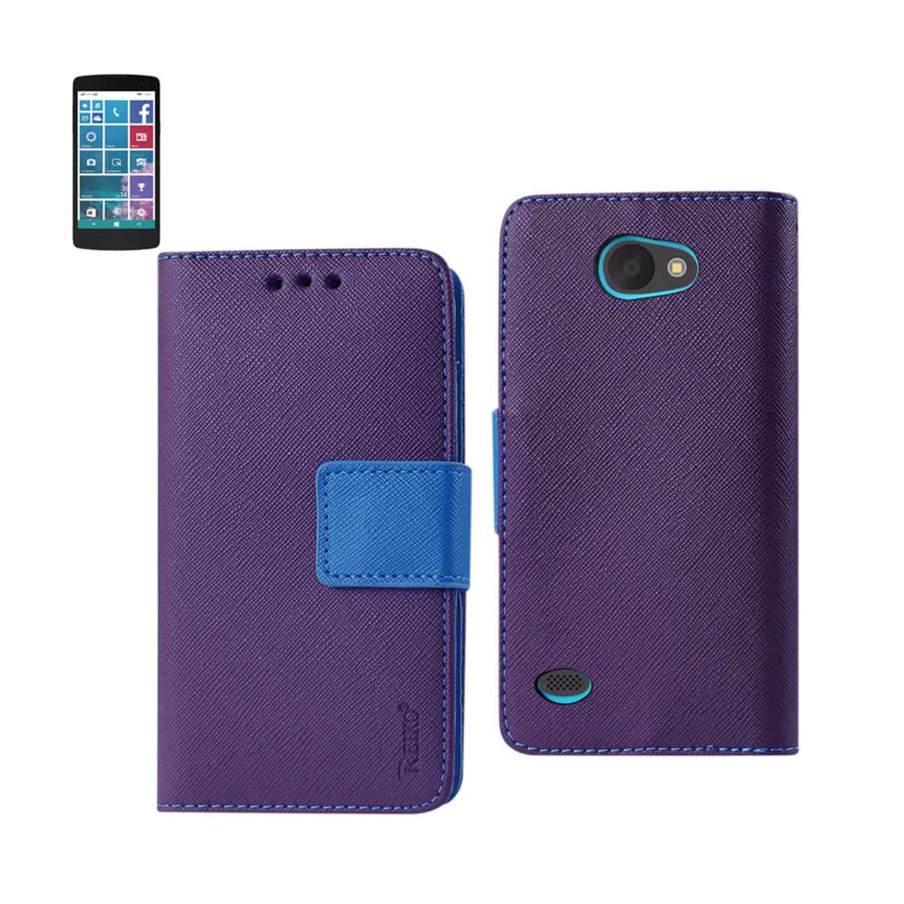 LG LANCET 3-IN-1 WALLET CASE IN NAVY