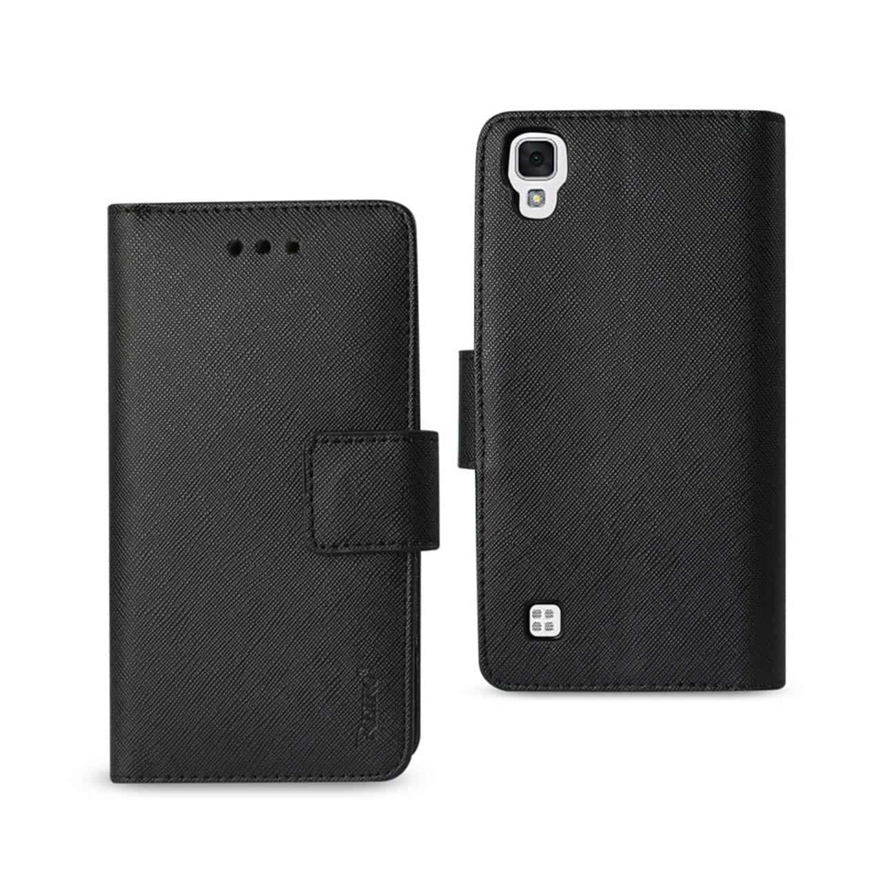 LG X STYLE (TRIBUTE HD) 3-IN-1 WALLET CASE IN BLACK