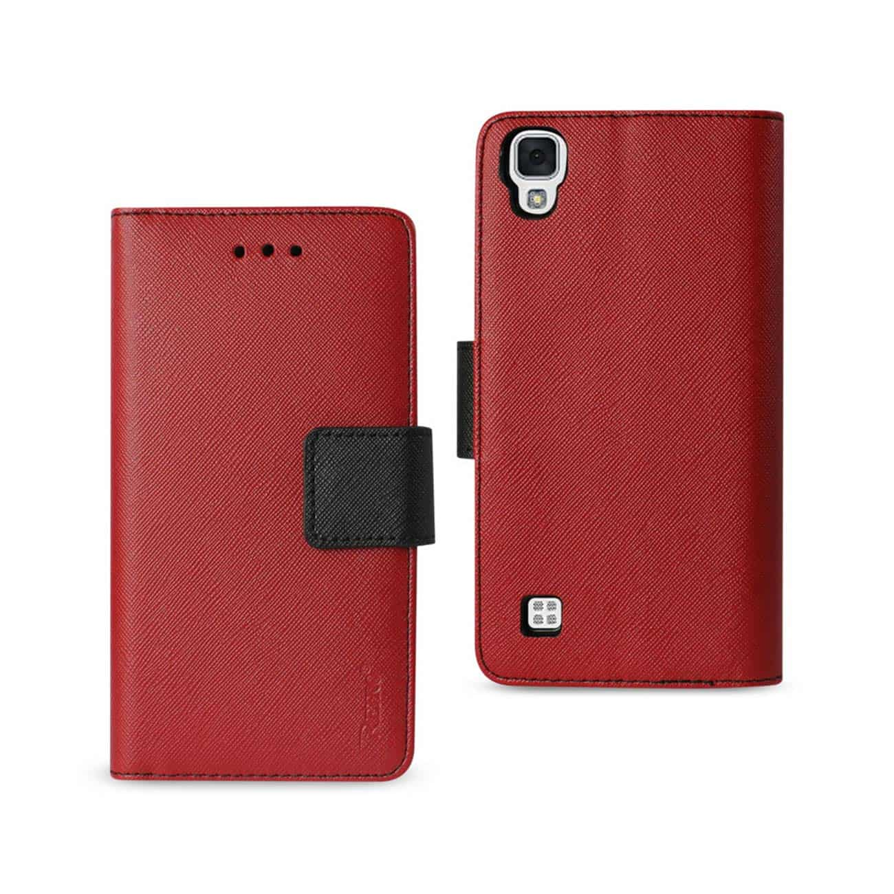 LG X STYLE (TRIBUTE HD) 3-IN-1 WALLET CASE IN RED