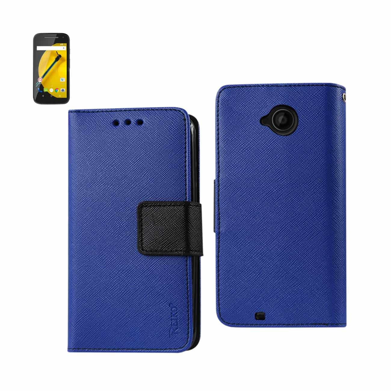 MOTOROLA MOTO E (2015) 3-IN-1 WALLET CASE IN NAVY