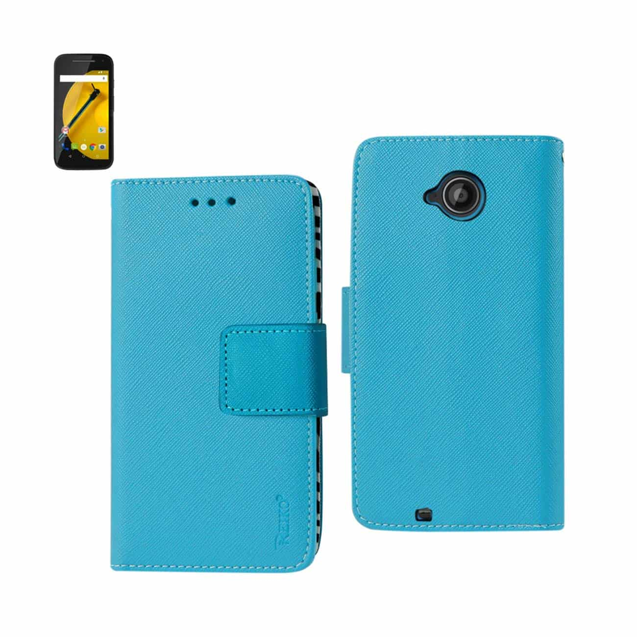 MOTOROLA MOTO E (2015) 3-IN-1 WALLET CASE IN BLUE