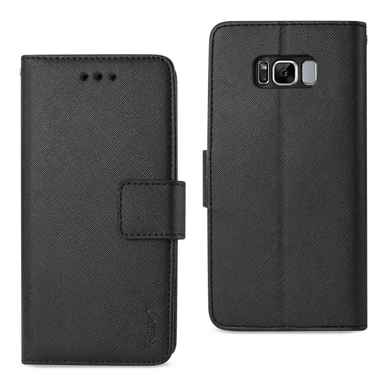 SAMSUNG GALAXY S8 EDGE/ S8 PLUS 3-IN-1 WALLET CASE IN BLACK