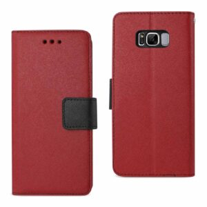 SAMSUNG GALAXY S8 EDGE/ S8 PLUS 3-IN-1 WALLET CASE IN RED