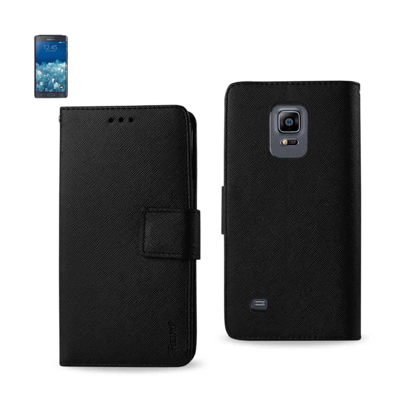 SAMSUNG GALAXY NOTE EDGE 3-IN-1 WALLET CASE IN BLACK