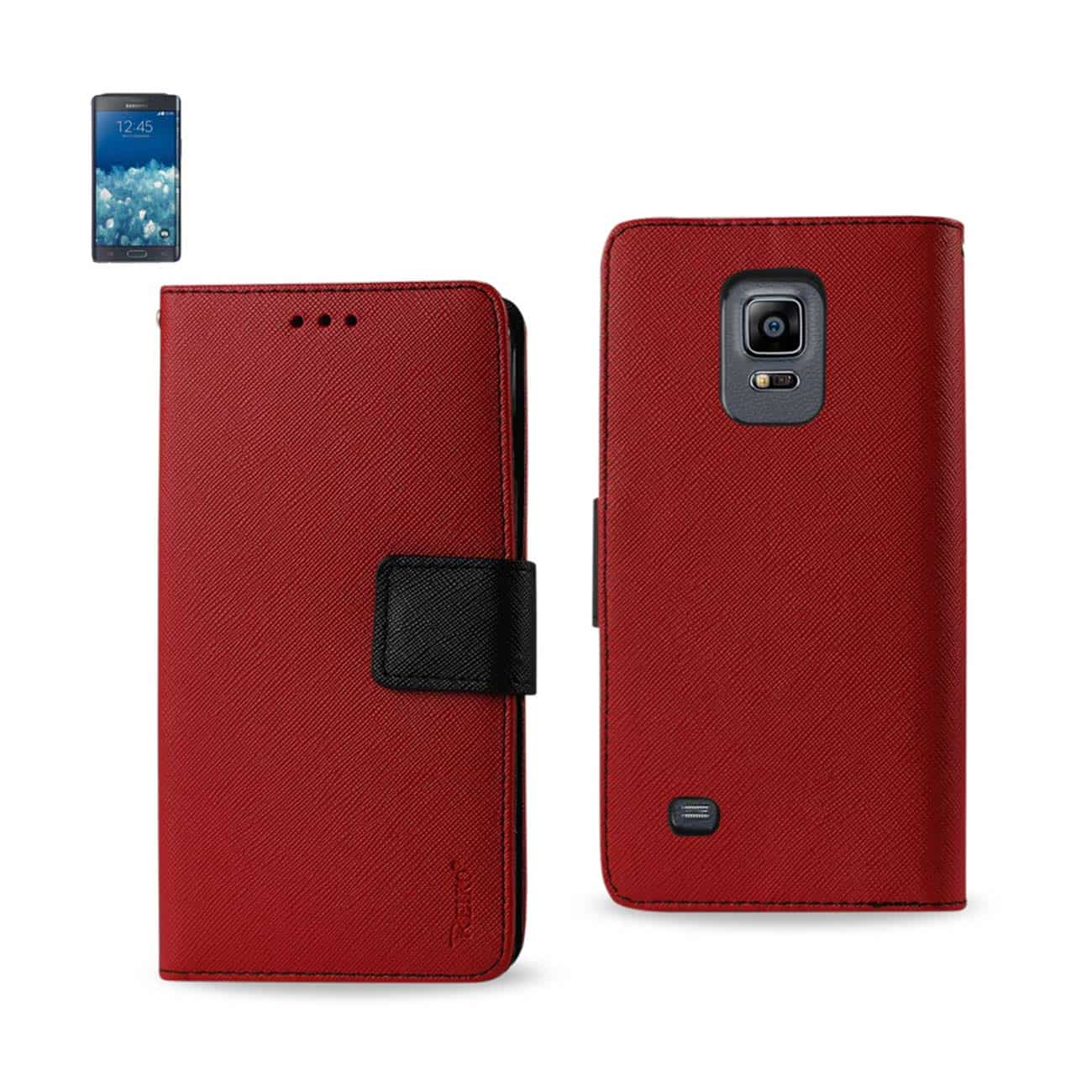 SAMSUNG GALAXY NOTE EDGE 3-IN-1 WALLET CASE IN RED