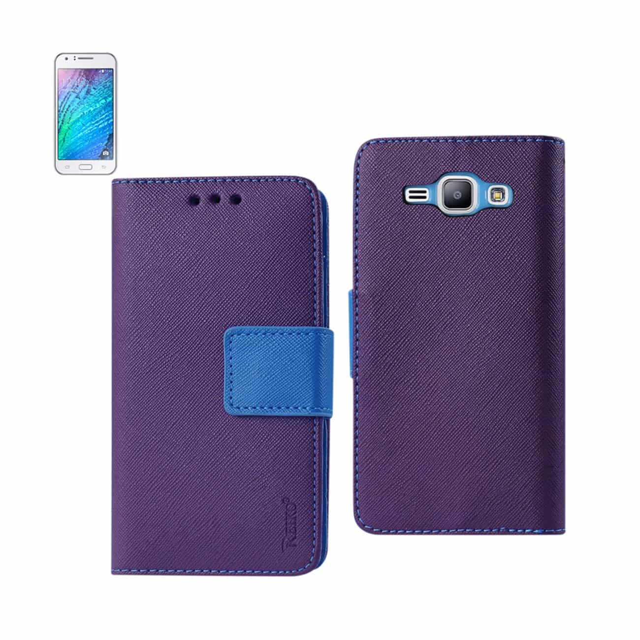 SAMSUNG GALAXY J1 3-IN-1 WALLET CASE IN PURPLE
