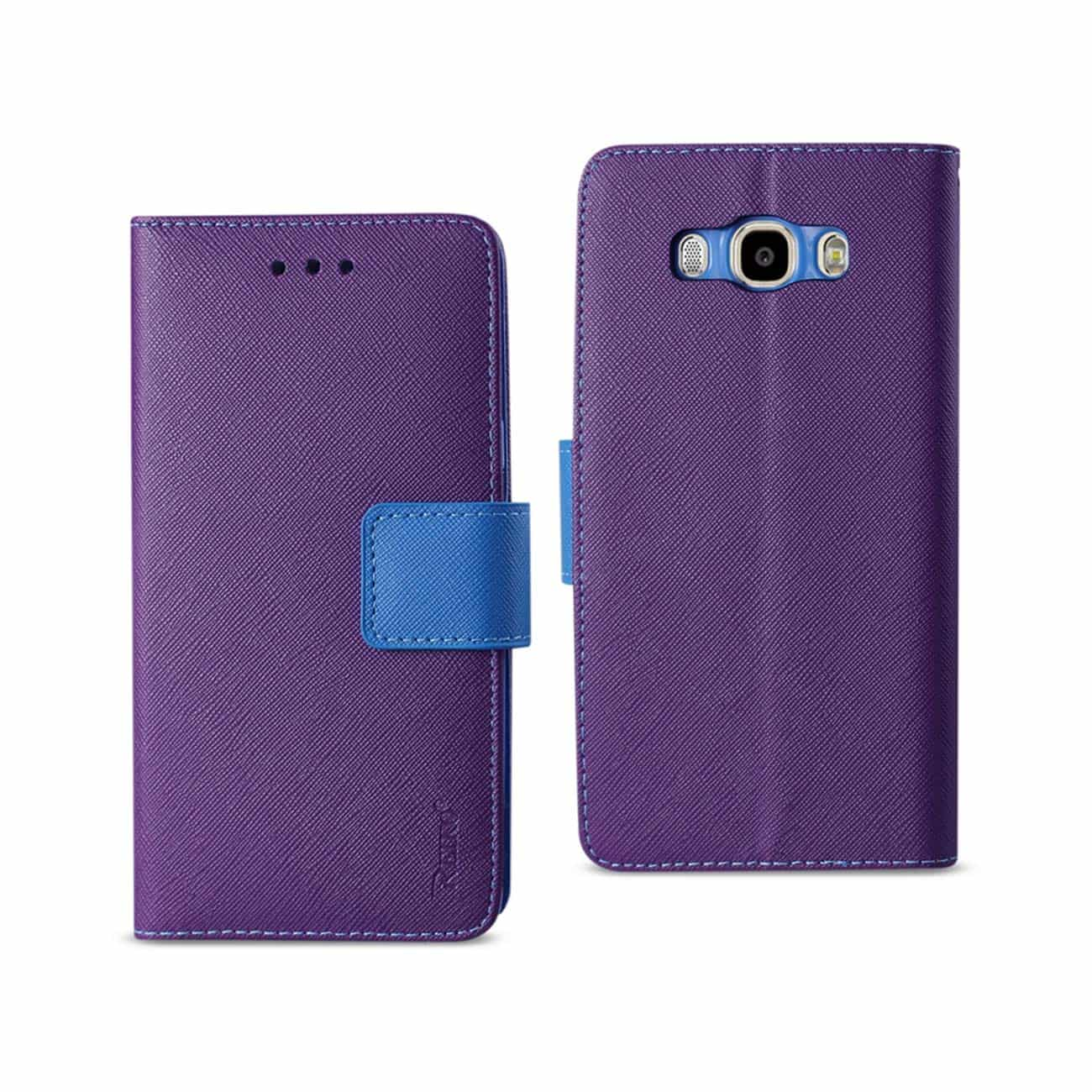 SAMSUNG GALAXY J7 (2016) 3-IN-1 WALLET CASE IN PURPLE