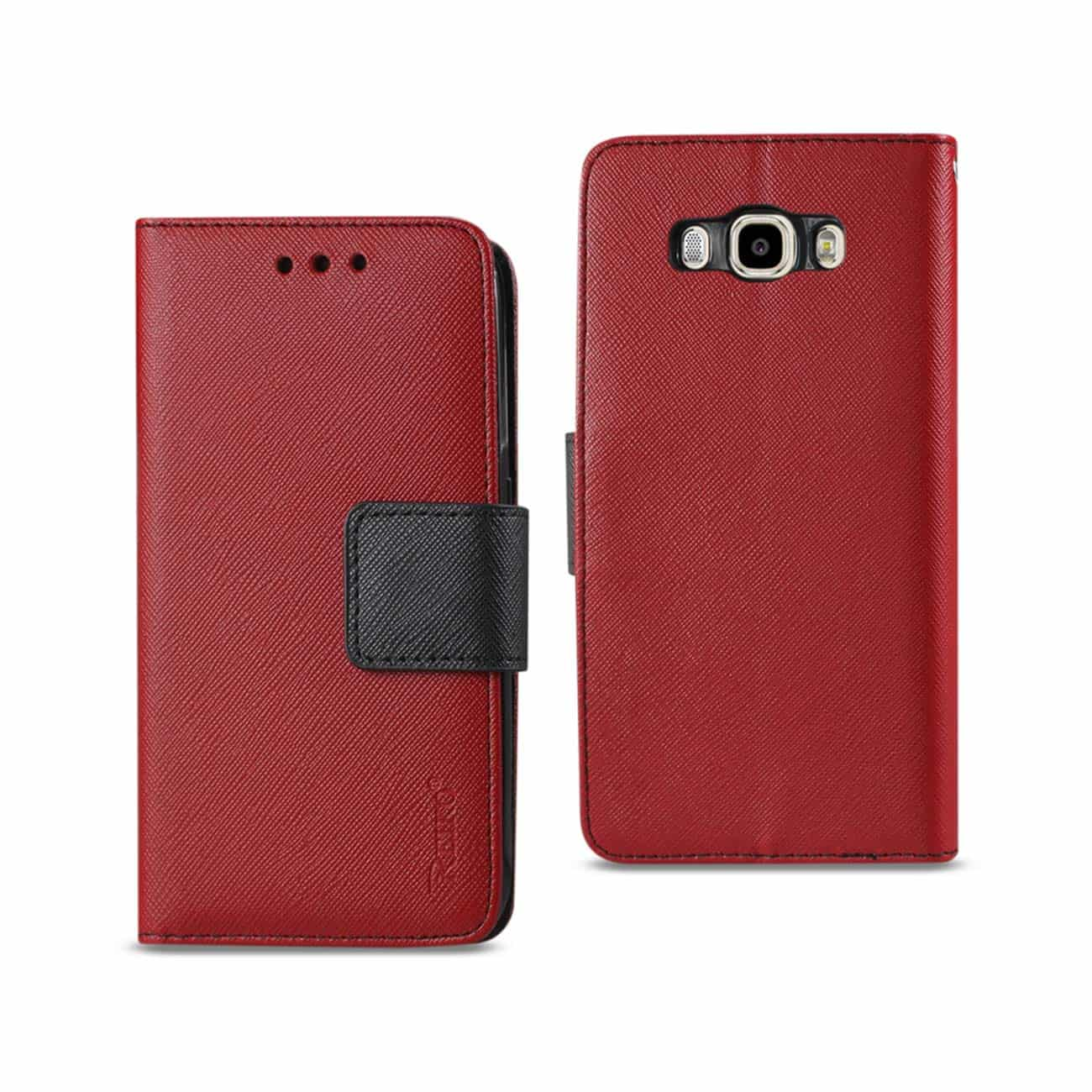 SAMSUNG GALAXY J7 (2016) 3-IN-1 WALLET CASE IN RED