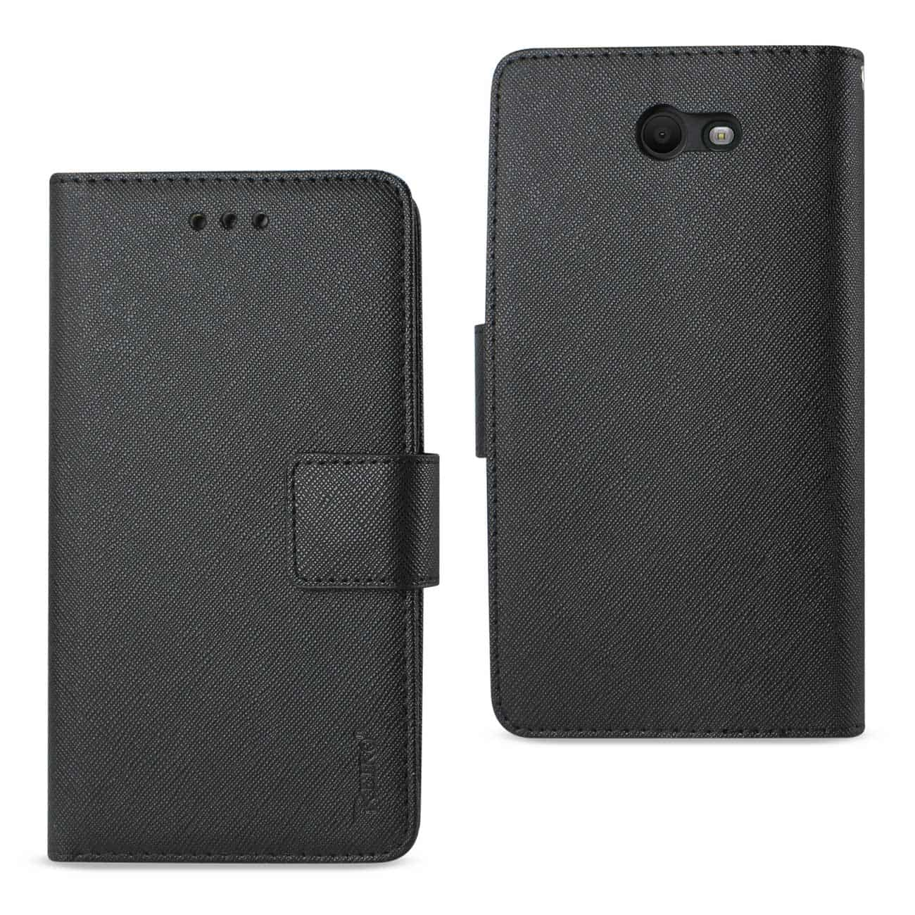 SAMSUNG GALAXY J7 V (2017) 3-IN-1 WALLET CASE IN BLACK