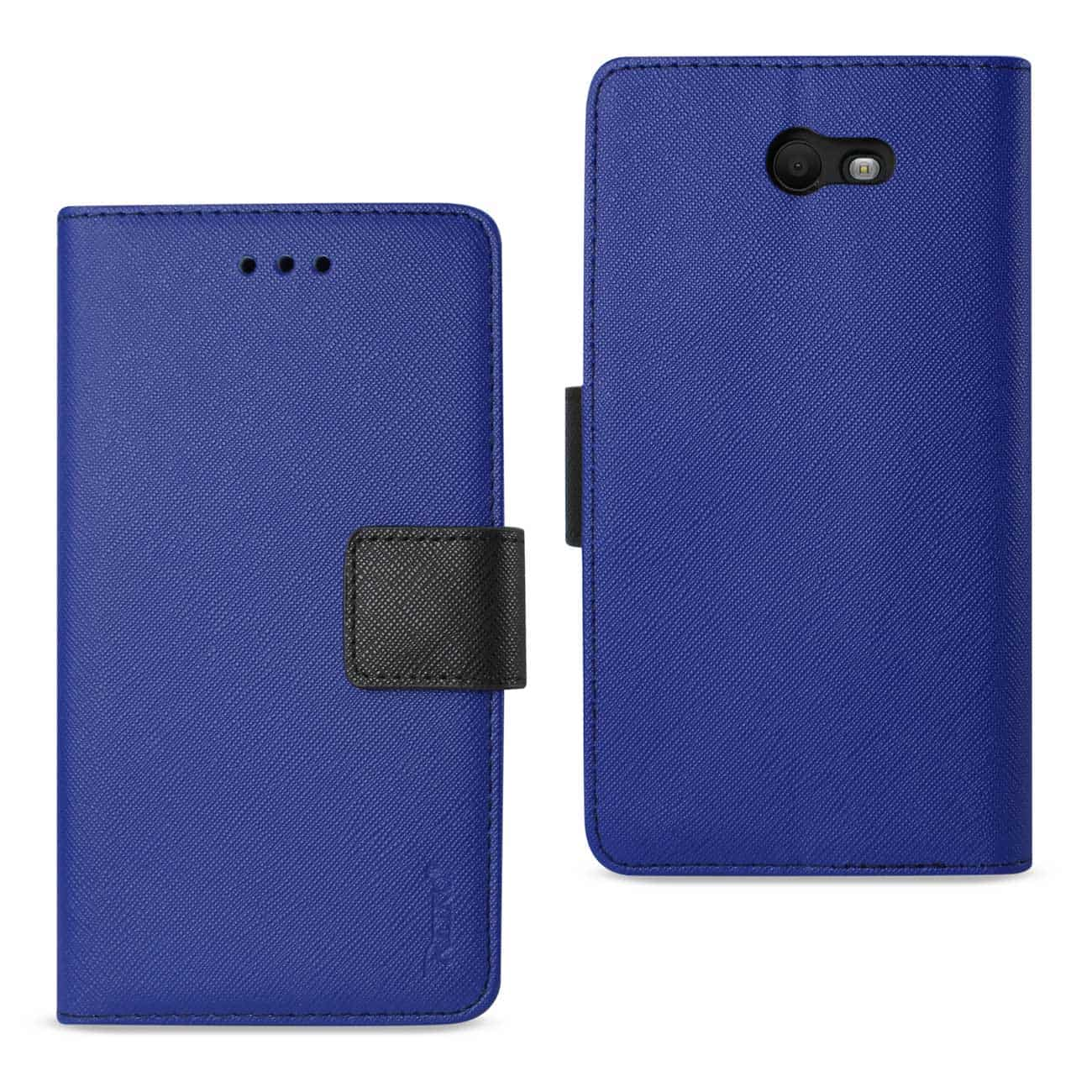 SAMSUNG GALAXY J7 V (2017) 3-IN-1 WALLET CASE IN NAVY