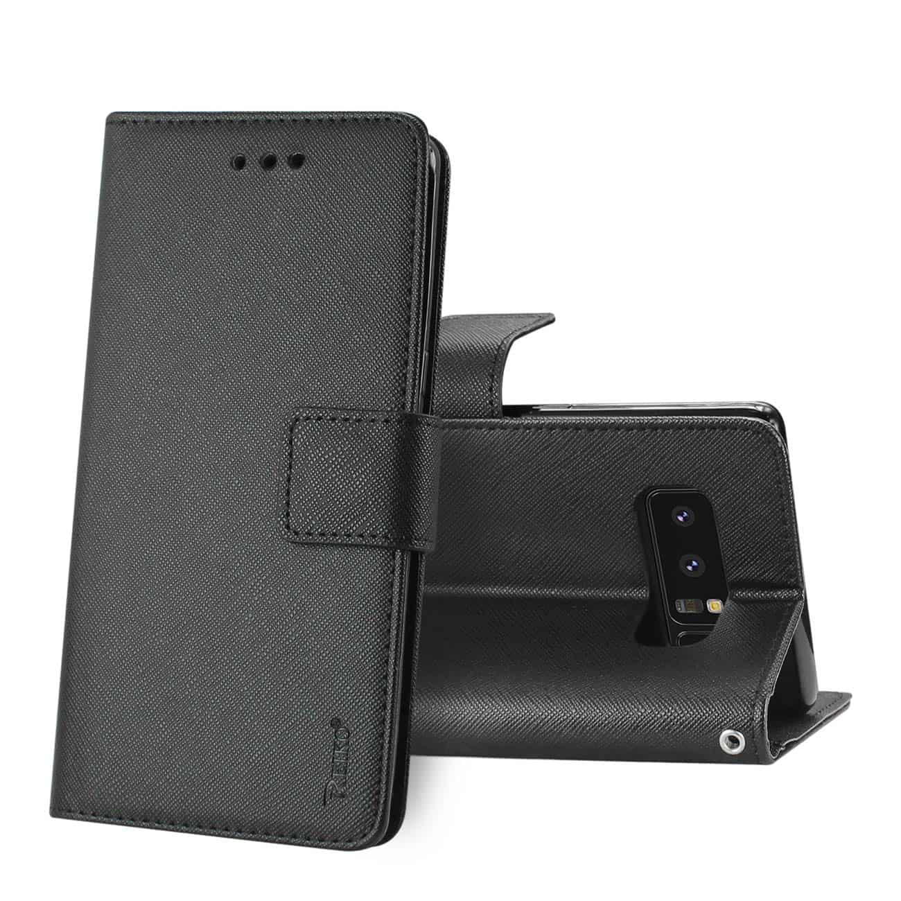 SAMSUNG GALAXY NOTE 8 3-IN-1 WALLET CASE IN BLACK