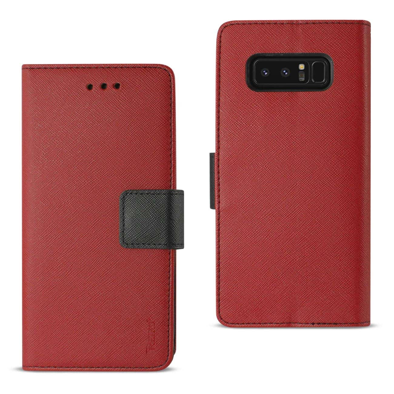SAMSUNG GALAXY NOTE 8 3-IN-1 WALLET CASE IN RED