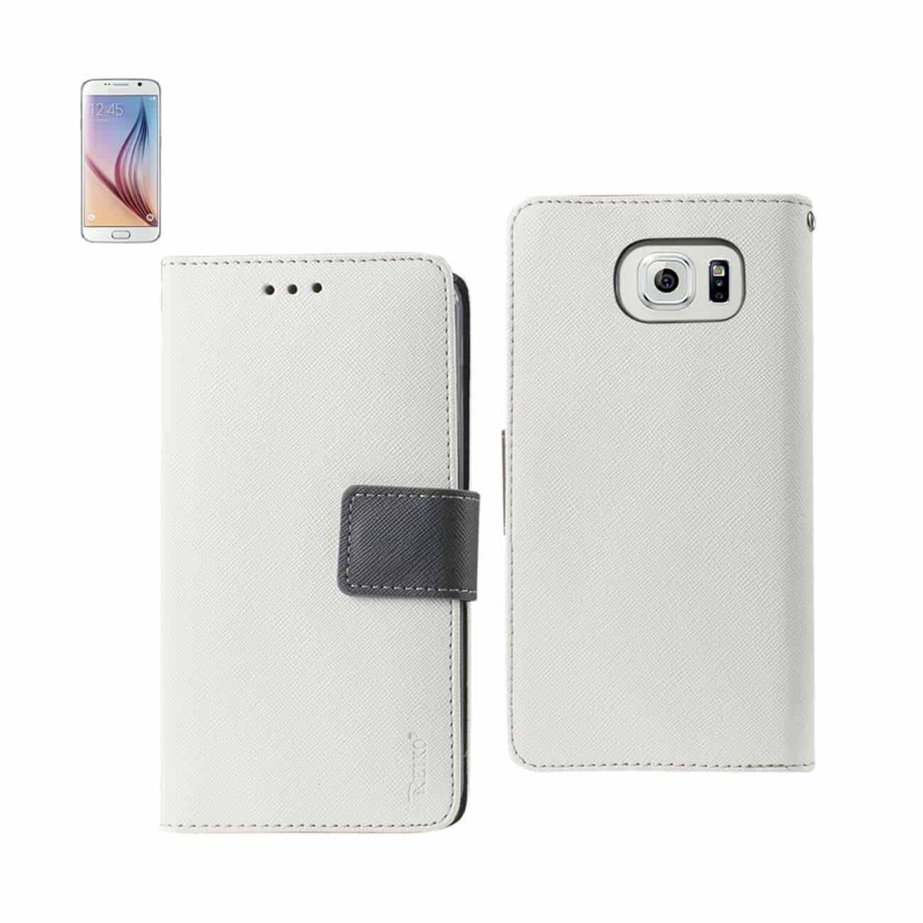 SAMSUNG GALAXY S6 3-IN-1 WALLET CASE IN WHITE