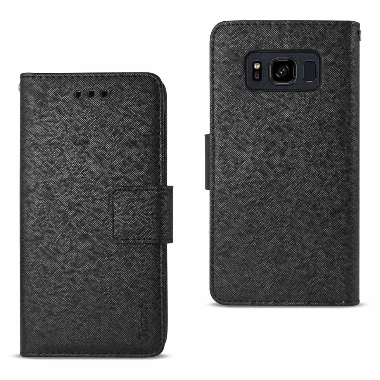 SAMSUNG GALAXY S8 ACTIVE 3-IN-1 WALLET CASE IN BLACK
