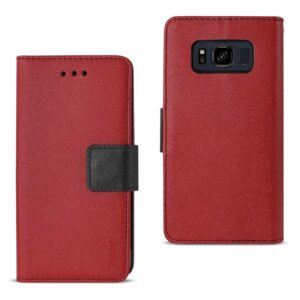 SAMSUNG GALAXY S8 ACTIVE 3-IN-1 WALLET CASE IN RED