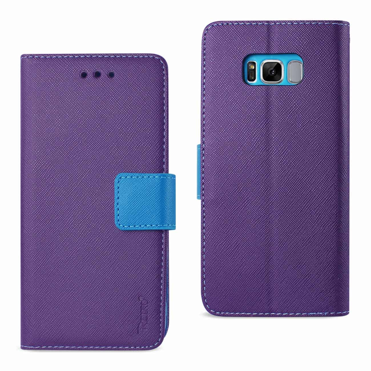 SAMSUNG GALAXY S8 3-IN-1 WALLET CASE IN PURPLE