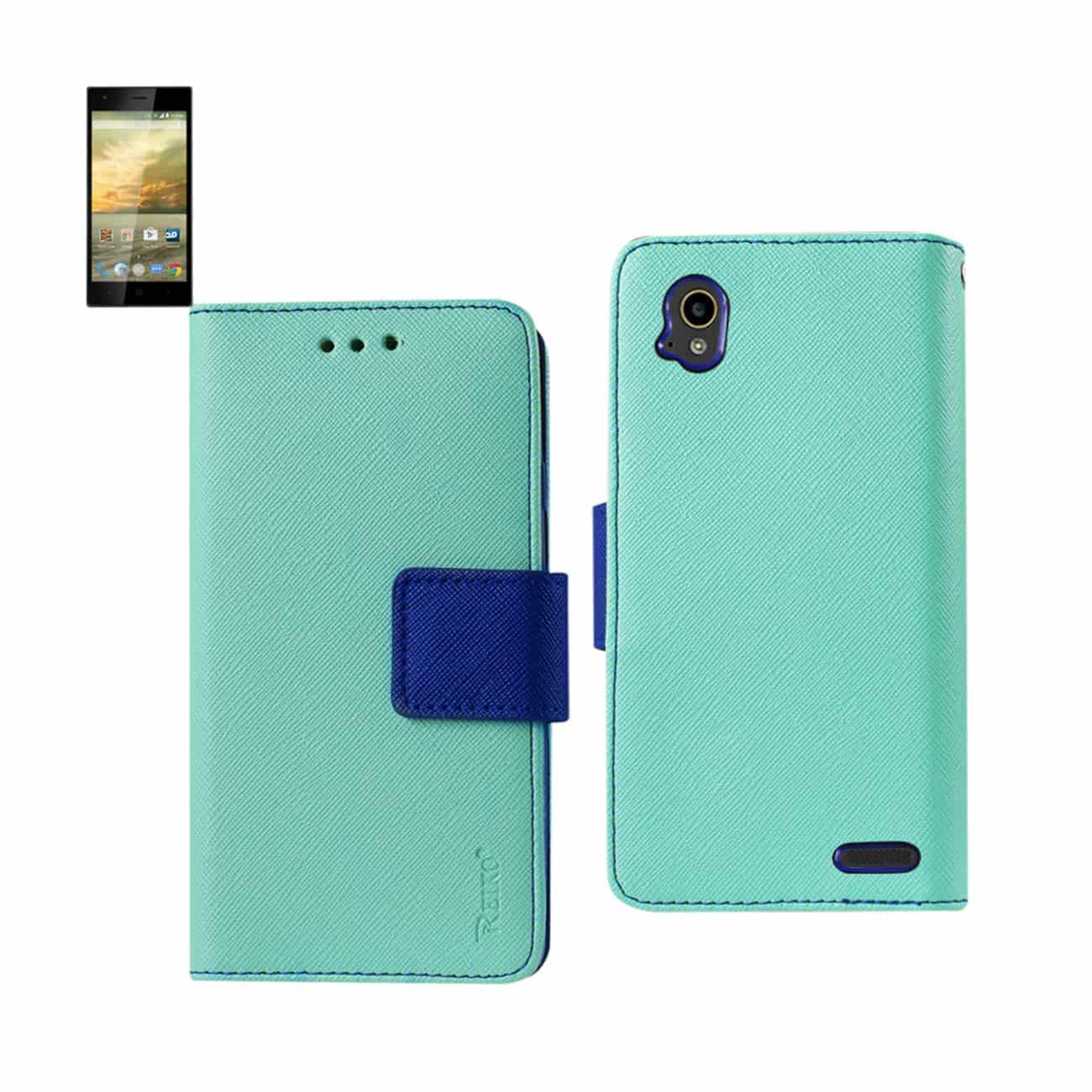 ZTE WARP ELITE 3-IN-1 WALLET CASE IN GREEN
