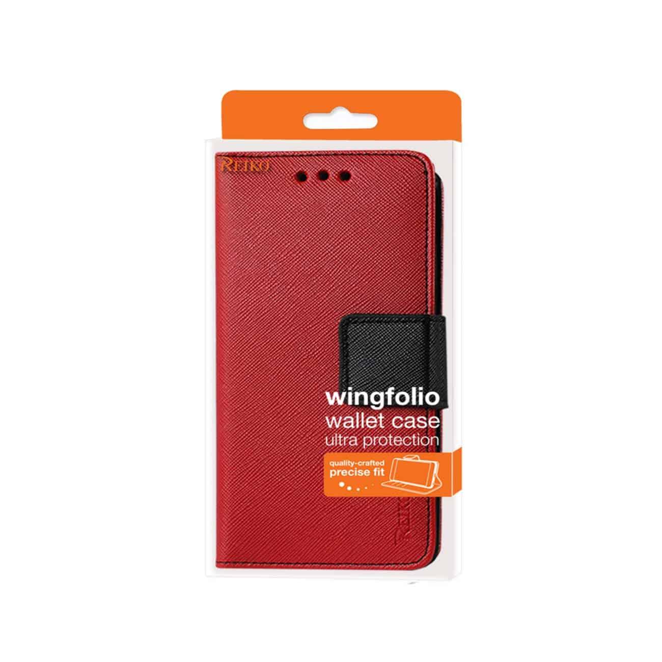 ZTE WARP ELITE 3-IN-1 WALLET CASE IN RED