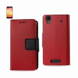 ZTE MAX 3-IN-1 WALLET CASE IN RED