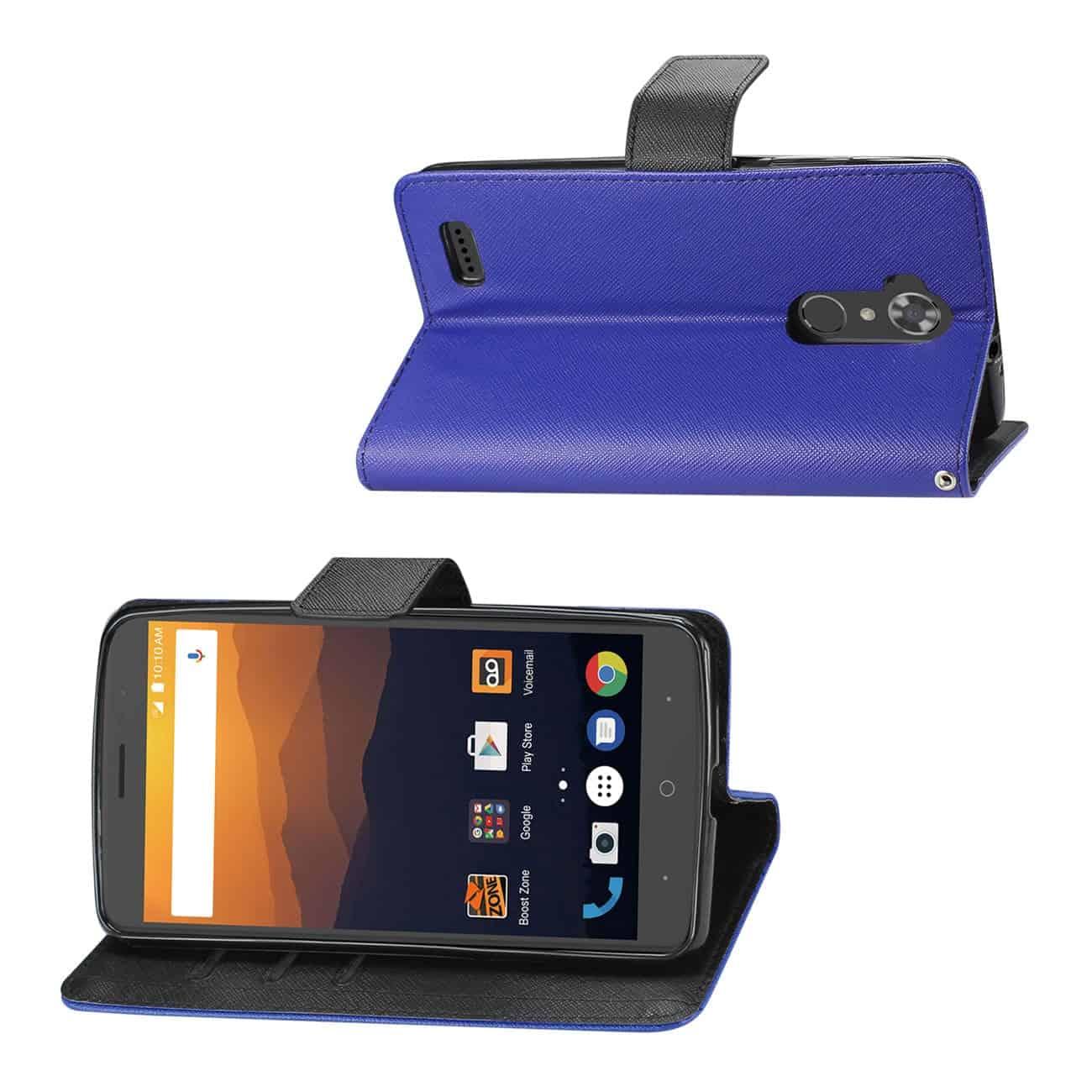 ZTE MAX XL/ N9560 3-IN-1 WALLET CASE IN RED