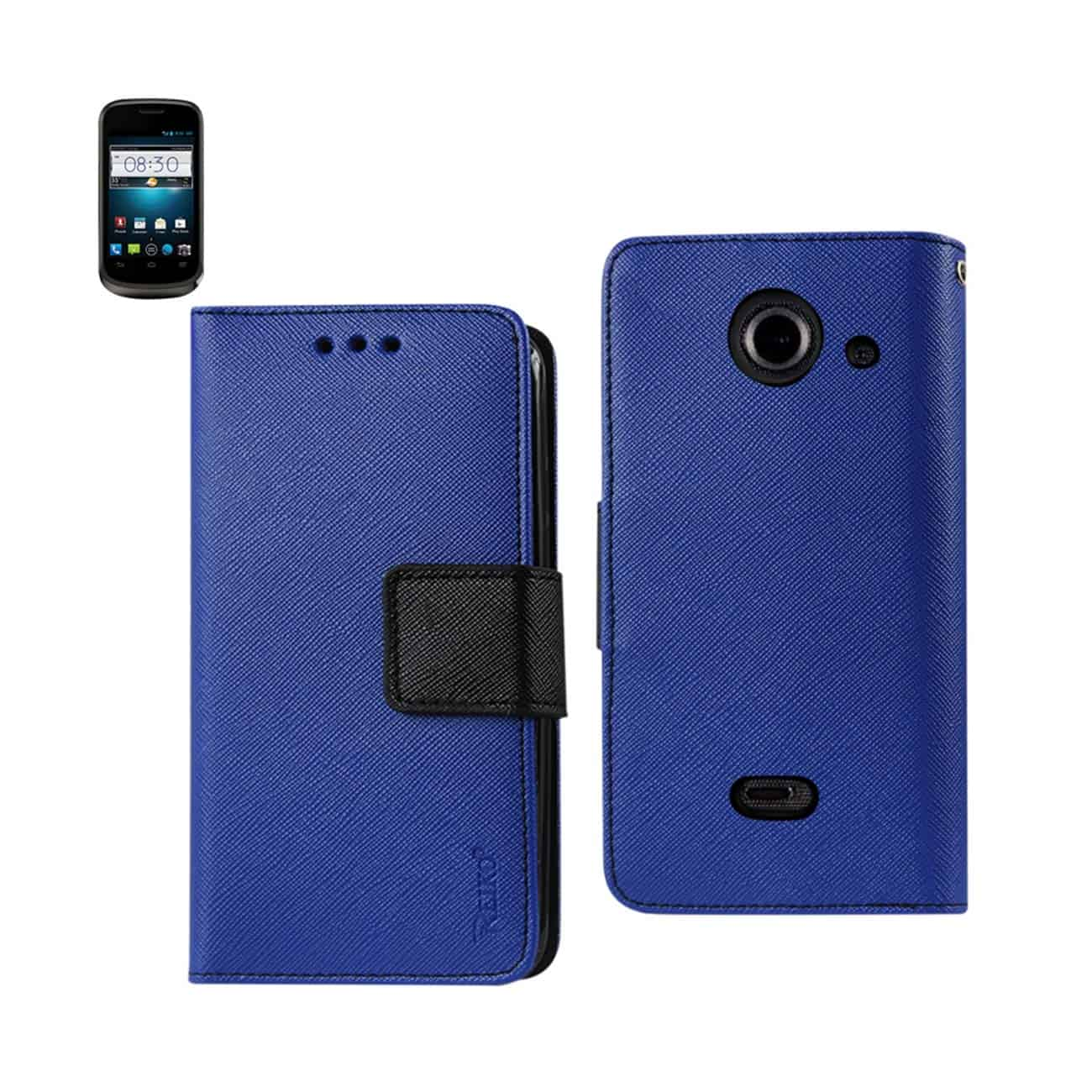 ZTE PRELUDE 2 3-IN-1 WALLET CASE IN NAVY