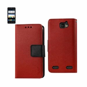 ZTE SONATA 2 3-IN-1 WALLET CASE IN RED