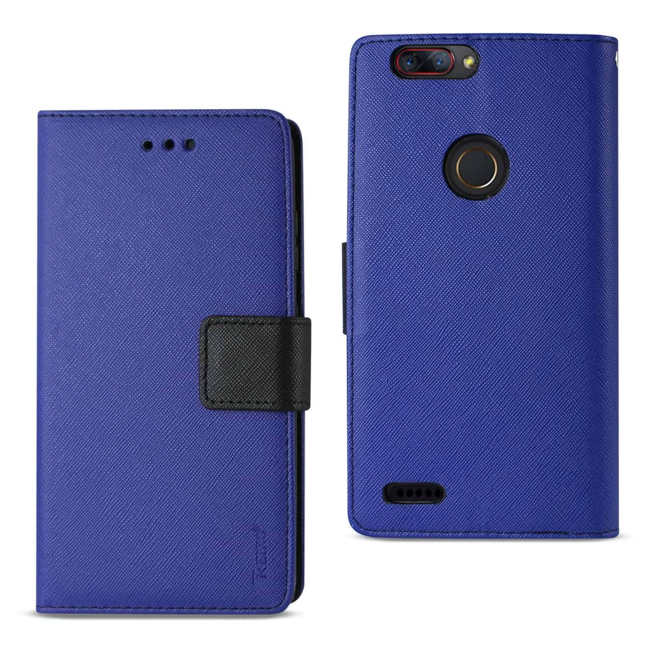 ZTE Blade Z MAX/Z982/ZTE Sequoia 3-IN-1 WALLET CASE IN NAVY