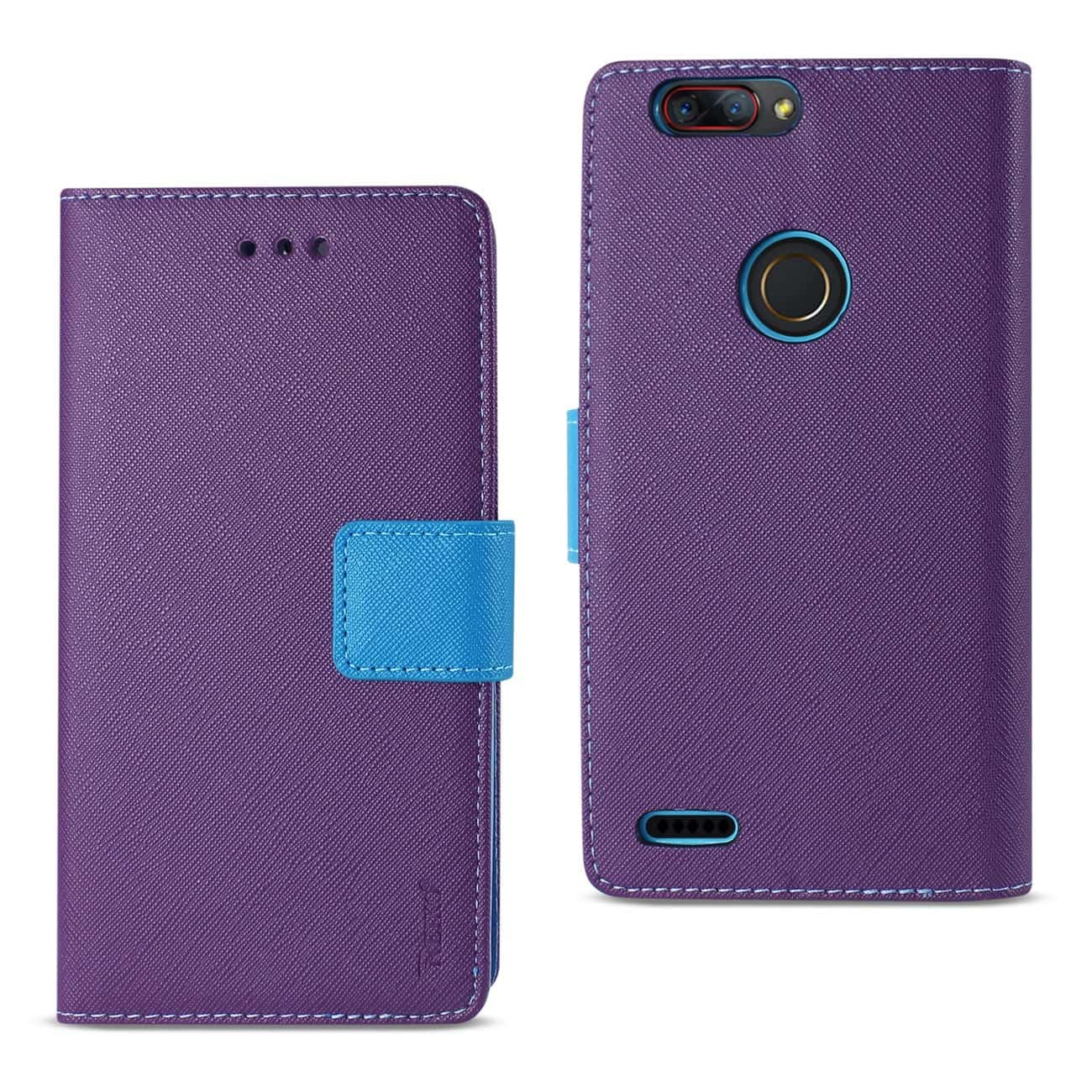 ZTE Blade Z MAX/Z982/ZTE Sequoia 3-IN-1 WALLET CASE IN PURPLE