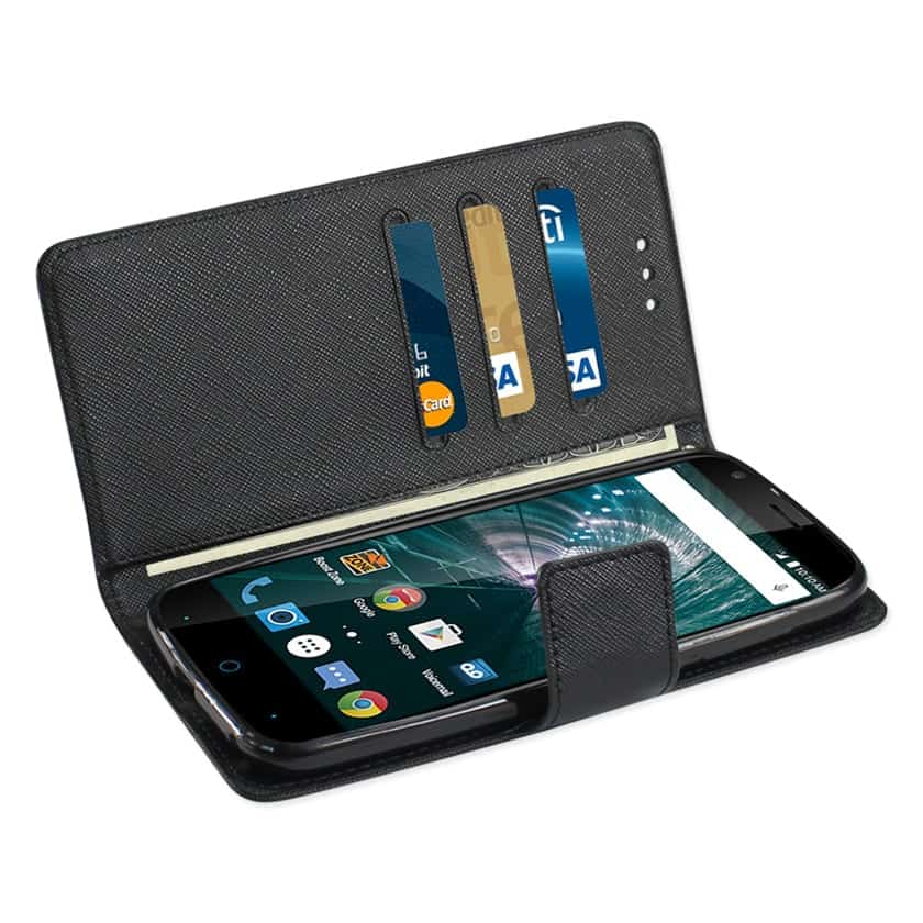 GRAND X3 (Z959)/ WARP 7 3-IN-1 WALLET CASE IN BLACK