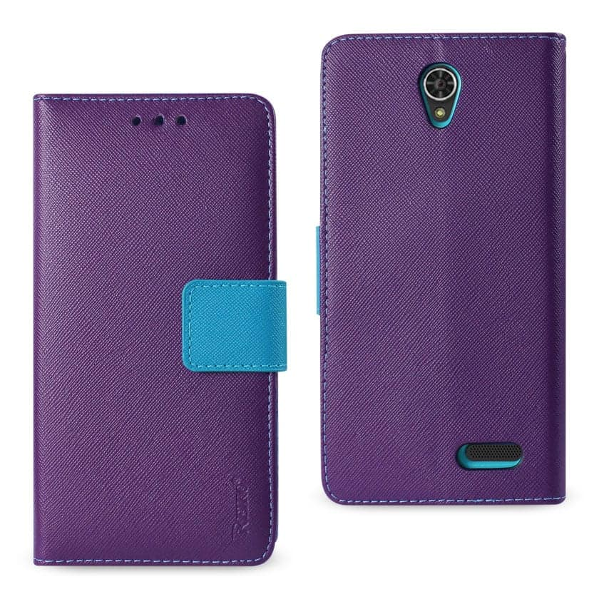 GRAND X3 (Z959)/ WARP 7 3-IN-1 WALLET CASE IN PURPLE