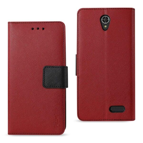 GRAND X3 (Z959)/ WARP 7 3-IN-1 WALLET CASE IN RED