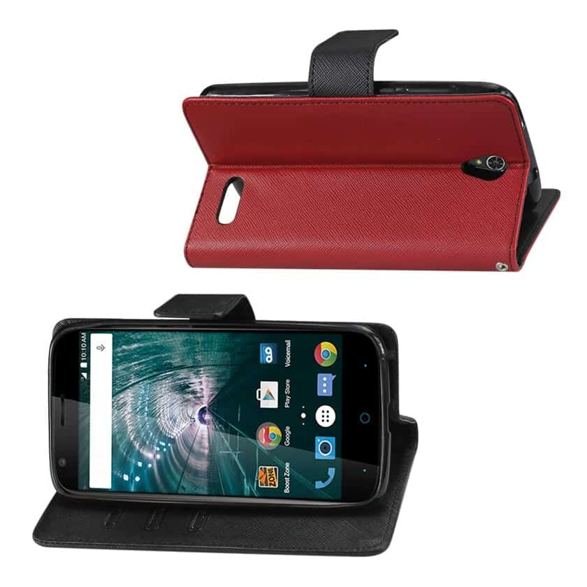 GRAND X3 (Z959)/ WARP 7 3-IN-1 WALLET CASE IN RED