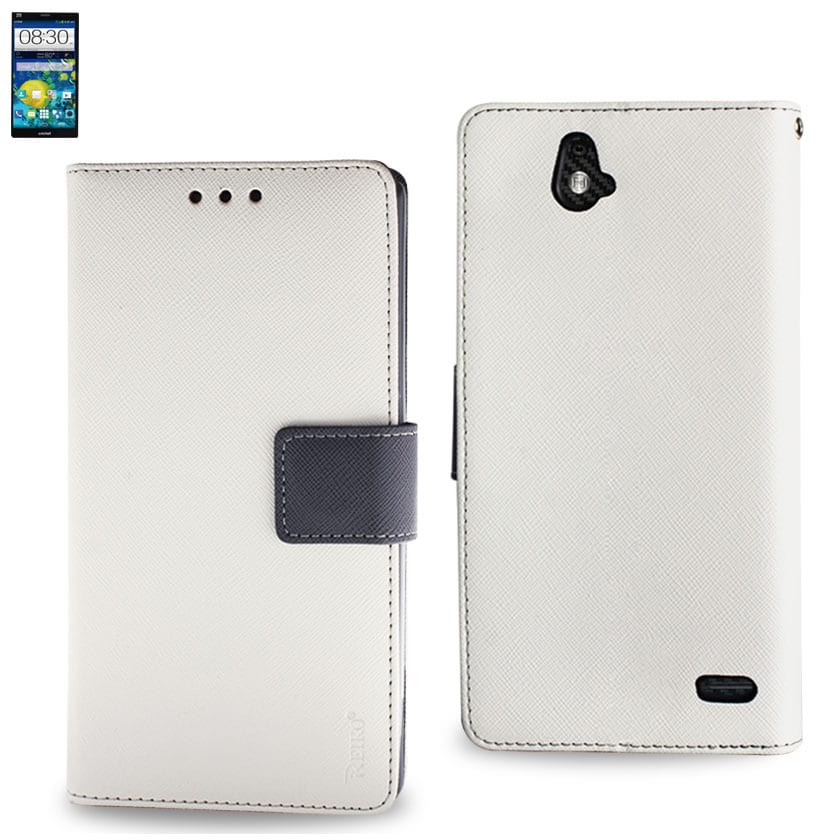 ZTE GRAND X MAX 3-IN-1 WALLET CASE IN WHITE
