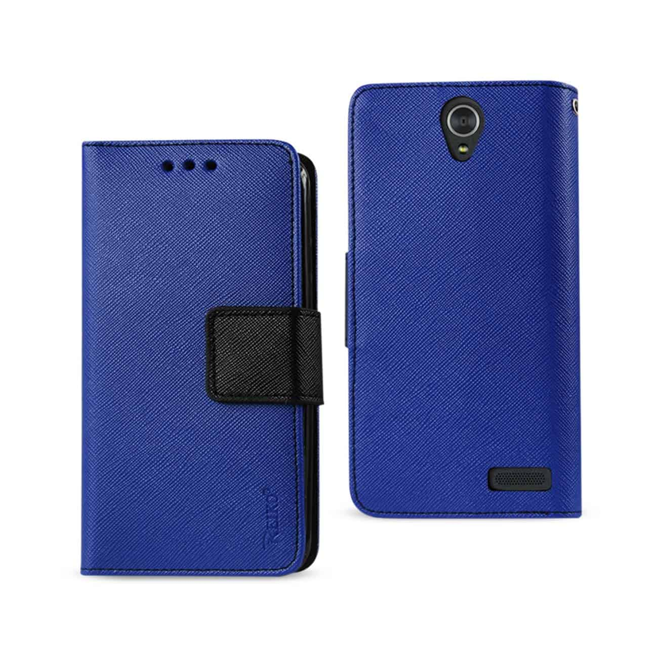 ZTE GRAND X3 3-IN-1 WALLET CASE IN NAVY