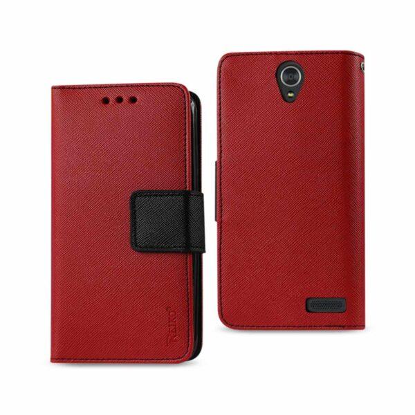 ZTE GRAND X3 3-IN-1 WALLET CASE IN RED