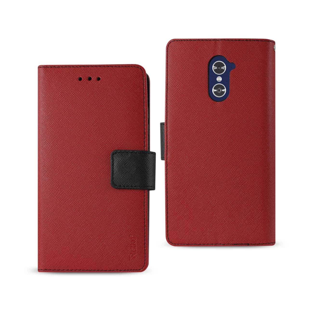 ZTE GRAND X MAX 2 3-IN-1 WALLET CASE IN RED