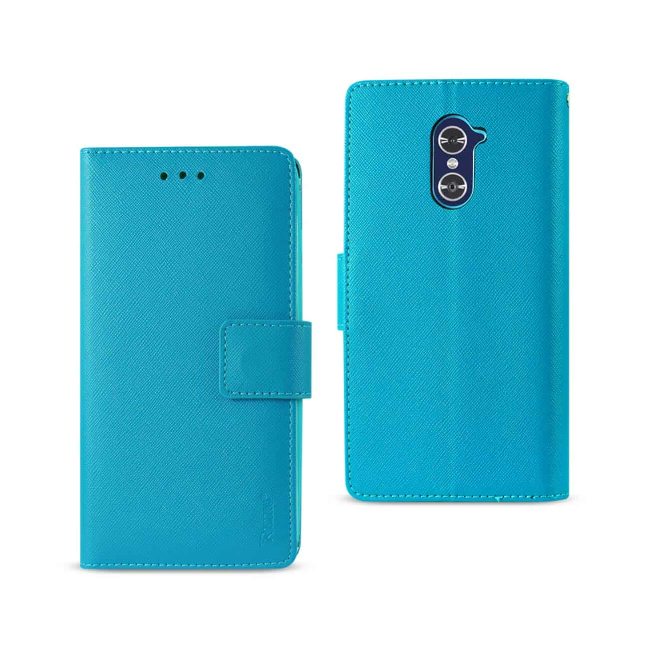 ZTE GRAND X MAX 2 WALLET CASE WITH INNER ZEBRA PRINT IN BLUE