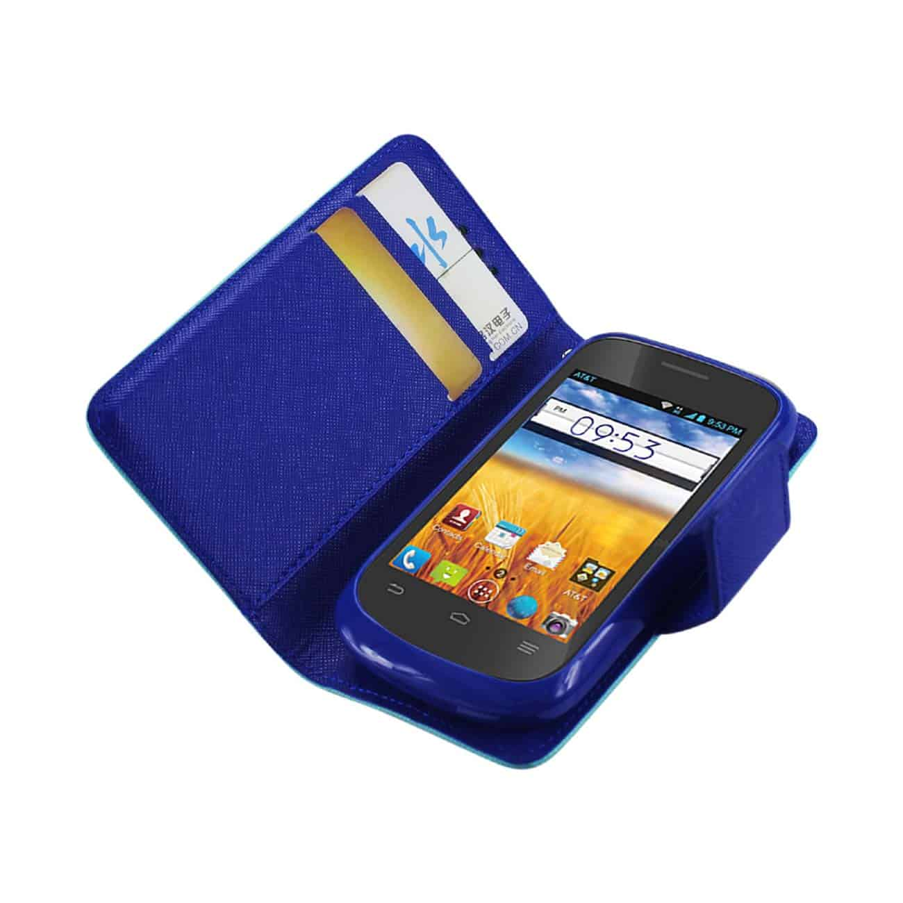 ZTE PRELUDE 3-IN-1 WALLET CASE IN GREEN