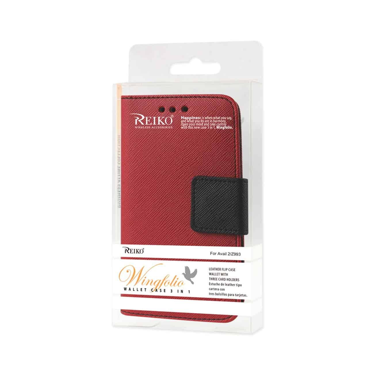 ZTE PRELUDE 3-IN-1 WALLET CASE IN RED
