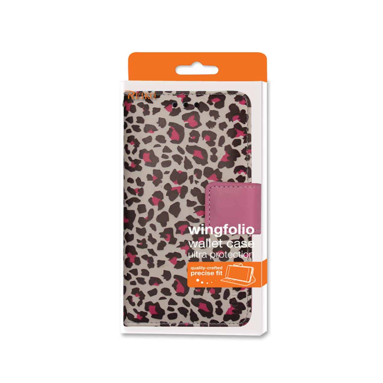 SAMSUNG GALAXY NOTE 4 3-IN-1 ANIMAL LEOPARD PRINT WALLET CASE IN HOT PINK